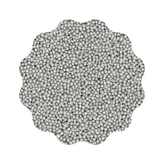 Perle argintii din zahar 2mm 100 gr. GPR