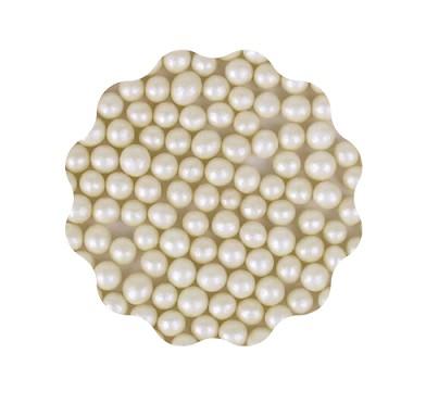 Perle crem din zahar 4mm 100 gr. GPR