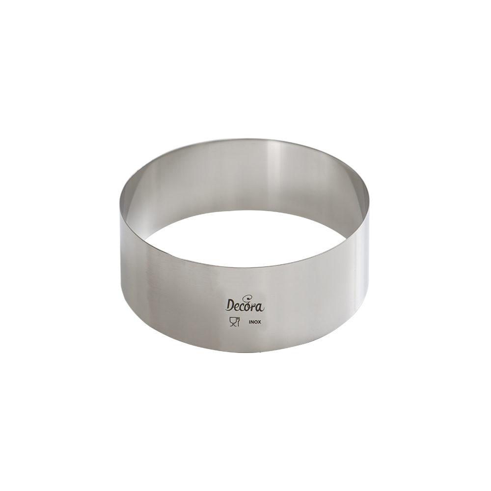 Forma din inox rotunda D30x4,5H cm 0063730 DER