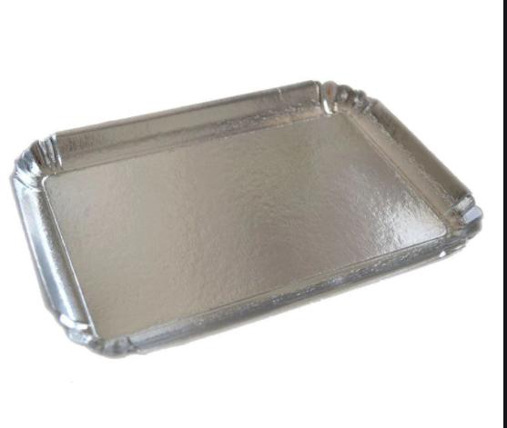 Platou argintiu dreptunghiular din carton 28x42 cm(4x25) 3CA2328422_BND