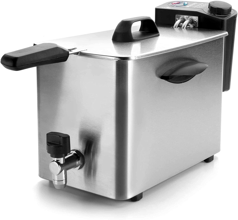 Friteuza electrica cu robinet Vol. 4 L 2500W  69134_LAC