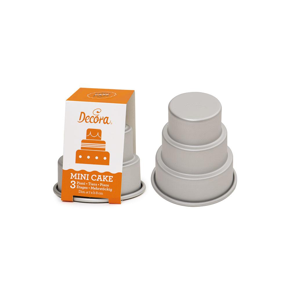 Forma de copt MINI CAKE aluminiu inoxidabil 3 nivele 0062972 DER