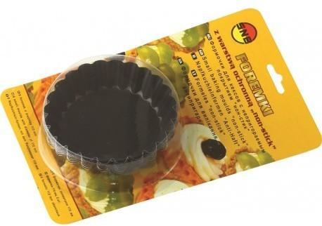 """Forma p/u muffin 90 mm """"non-stick"""" neagra (6 buc in set) 990-21 SNB"""