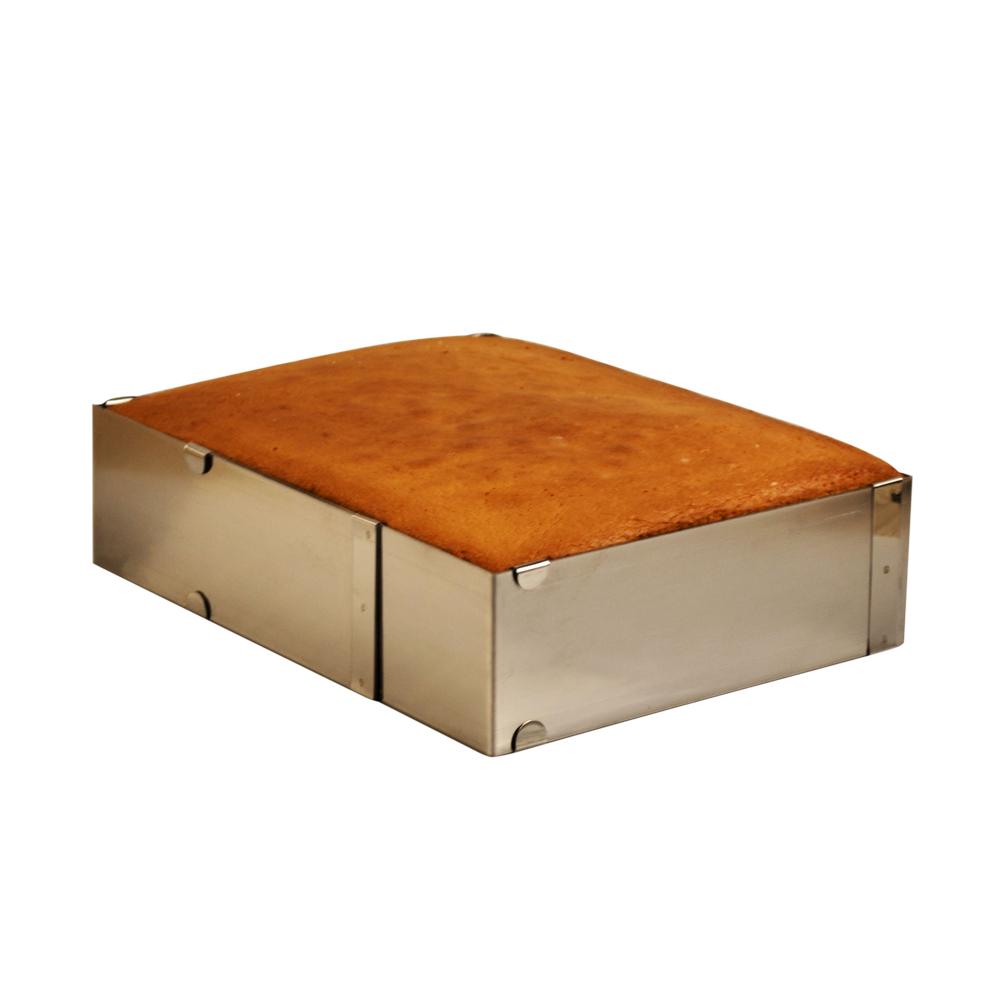 Forma din inox PĂTRAT REGLABIL H: 7CM G: 30 * 30 51019 CSL