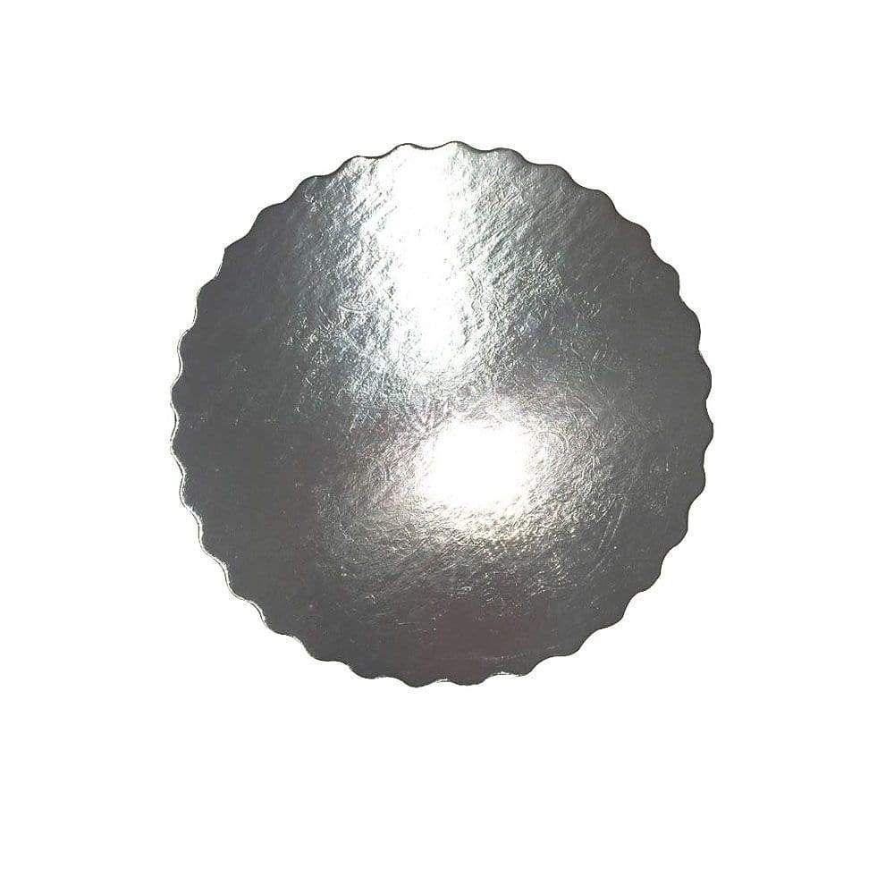 Platou auriu/negru crestat din carton  D 20 cm  3CA230020N_BND