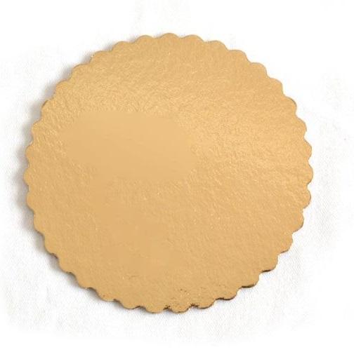 Platou auriu rotund din carton prajituri D 5 cm 3CA2300051_BND