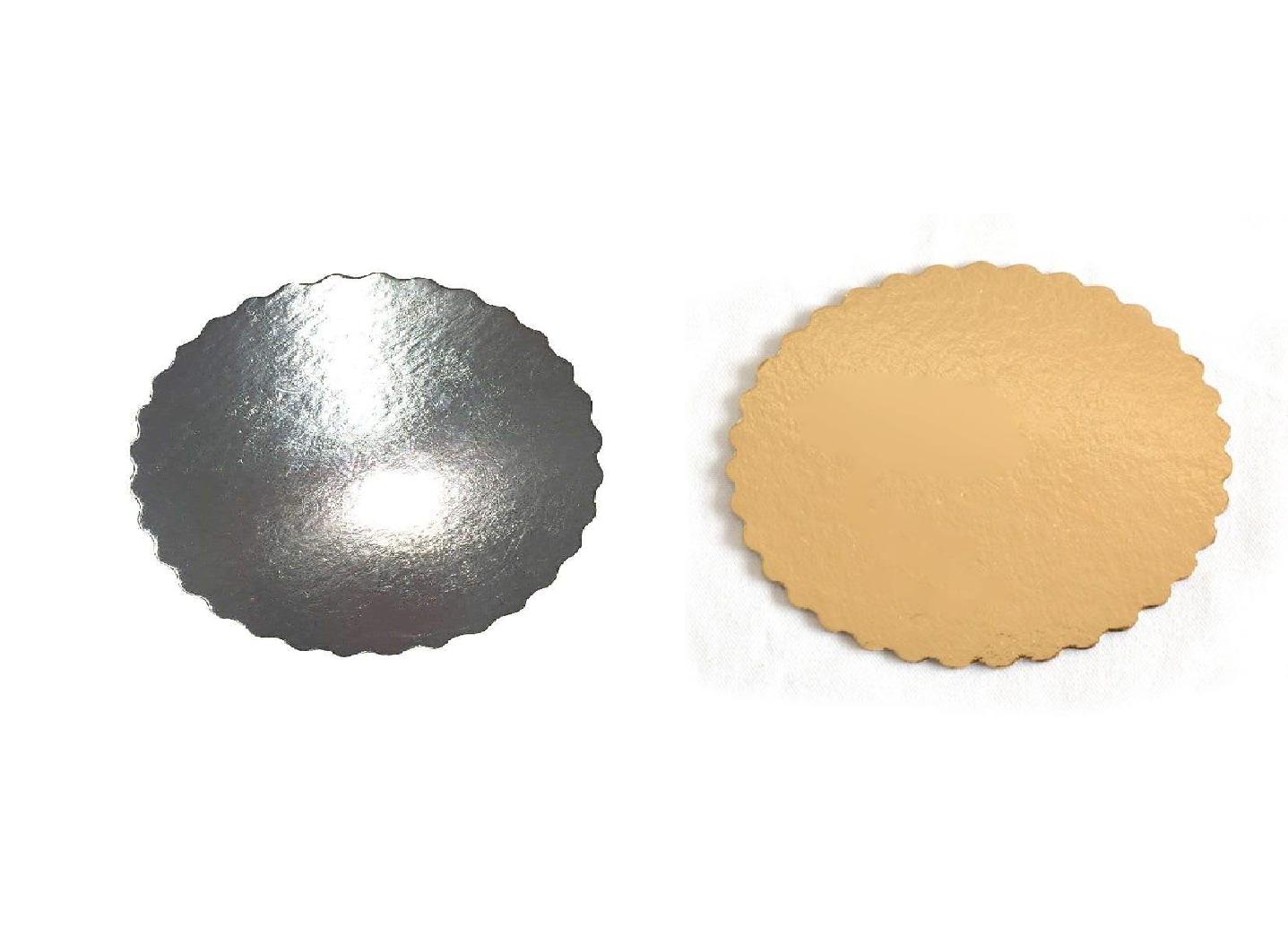 Platou auriu/negru crestat din carton  D 22 cm  3CA230022N_BND